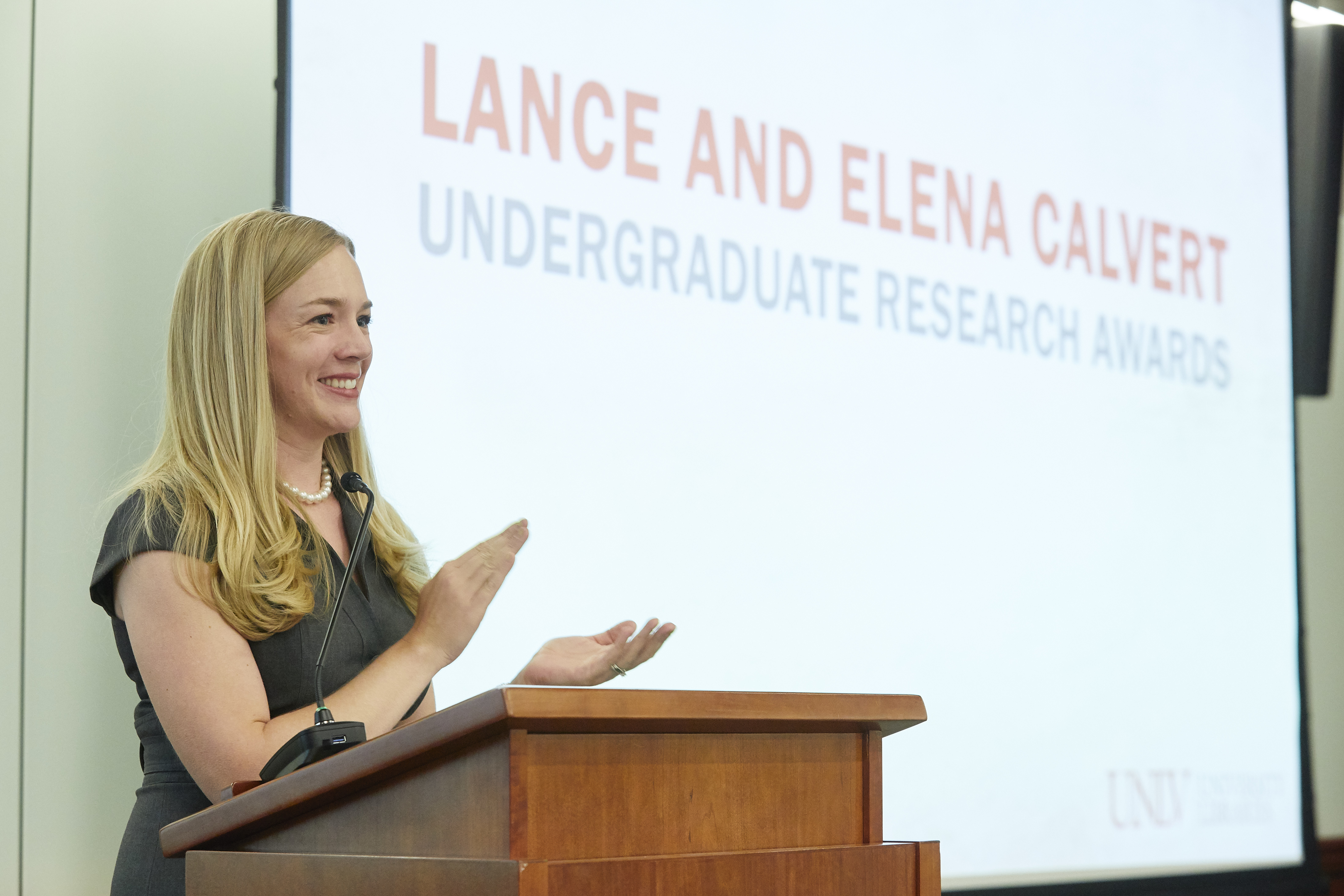 Lance and Elena Calvert Undergraduate Research Awards Ceremony