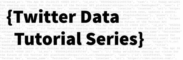 twitter data tutorial series