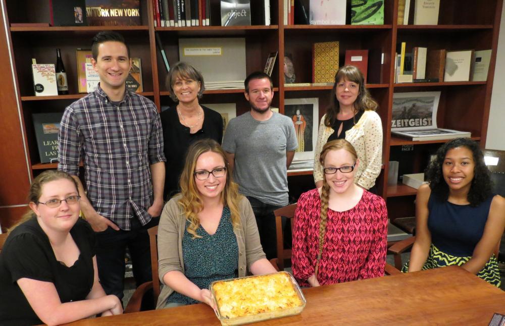 Front row: Kayla McDuffie, Hannah Robinson, Dallas Reiber, Hana Gutierrez. Back row: Lindsay Oden, Cyndi Shein, Ian Baldwin, Karla Irwin