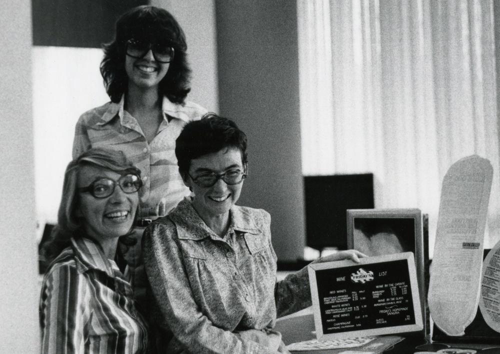UNLV staff working on menus in 1970