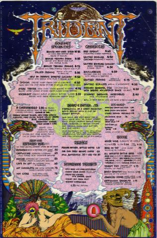 Scanned full page image of Trident menu