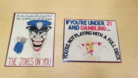 Early hand-drawn illustrations from Harrah's underage gaming prevention program from Harrah's Entertainment Corporate Archives. MS-00460. Special Collections, University Libraries, University of Nevada, Las Vegas