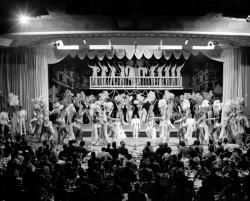 Example black and white photograph from the Showgirls digital collection of showgirls on stage.