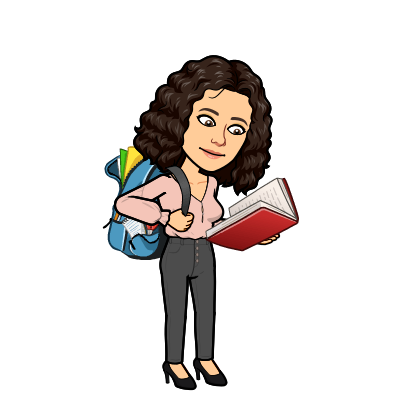 Cartoon Jade with backpack and reading a book