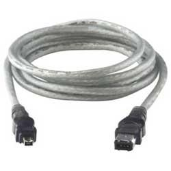 gray firewire cable 4 pin to 6 pin