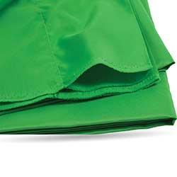 closeup of green screen fabric material