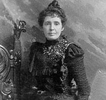 Example black and white photograph from the Helen J. Stewart papers showing a woman in a Victorian style black dress.