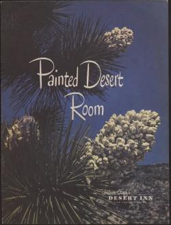 Cover page of an menu for the Painted Desert Room restaurant