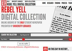 Screenshot of Rebel Yell web page.
