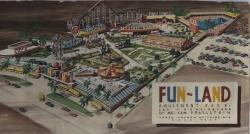 Design drawing of Fun-Land drawn by Harry Hayden Whiteley.