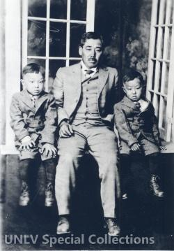 Example photograph of the Tomiyasus--a pioneering Japanese-American farming family in Las Vegas.