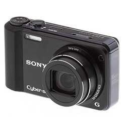 black Sony HX7V Cyber-Shot camera