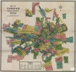 Example map from the Southern Nevada and Las Vegas History in Maps collection showing Tonopah mining district.
