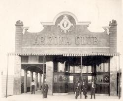 Example black and white photograph from early Las Vegas digital collections showing Arizona Club building.