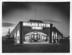 Example photograph from the Las Vegas Water in the West showing Boulder City Co. stores building.